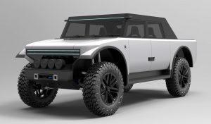 Fering Pioneer Vehicle Has Fabric Covering It's Offroading Exterior